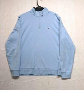 Vineyard Vines Men's Blue Pullover Jacket 1/4 Zip - Size Medium