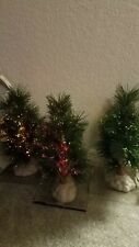 Holiday Time Fiber Optic Cypress Trees (3) w/ 3V Adapter (4 plugs)