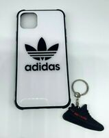White Addidas, Nike Iphone Case with Keychain