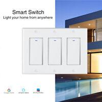 Smart WIFI Light Switch Remote For Alexa Google Home Schedule IFTTT 1/2/3 Gang