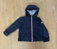 MONCLER GENUINE BOYS HOODED JACKET COAT RAIN WATERPROOF NAVY BLUE 2