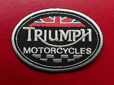TRIUMPH BRITISH BIKE MOTORCYCLE IRON/SEW ON EMBROIDERED QUALITY PATCH UK SELLER