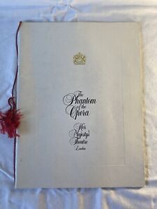 The Phantom of the Opera 1990 Souvenir Program Brochure Her Majesty's Theatre UK