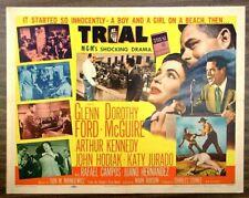 TRIAL (1955) Folded 22x28 - Glenn Ford, Dorothy McGuire, Arthur Kennedy