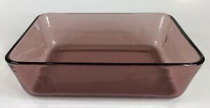 "Pyrex Cranberry 7211 Rectangle Casserole Baking Dish 6 Cup  1.5L 8.5"" x 6.5"" USA"
