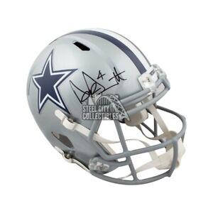 Dak Prescott Autographed Dallas Cowboys Speed Full-Size Football Helmet JSA COA