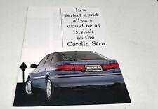 1992 TOYOTA COROLLA SECA  Australian  Sales  Brochure