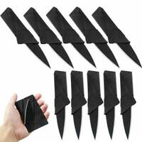 1PC Portable Credit Card Thin Cardsharp Wallet Folding Pocket Survival Knife