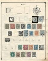 Italy Collection 1862 to 1926 on 2 Scott International Pages, Early Classics