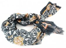 Oilily Scarve Flower Swirl Shawl Charcoal Black