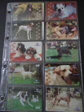 2001 GREAT FRIENDS OF MAN Set of 13 Different Phone Cards from Brazil