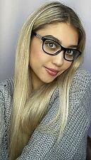 New Versace Mod. 1232-B Black 54mm Cats Eye Women's Eyeglasses Italy #7