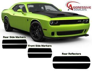 2015-2020 Dodge Challenger Side Marker & Rear Reflector Tint Film 20% Smoke -9pc