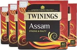 Twinings Assam Tea 160 to 320 Teabags (Packs of 2 x 80, or 4 x 80)