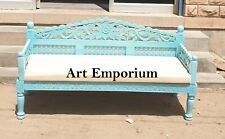 Wooden Carved Handmade solid wood fine Carved Day Bed Cum Sofa with chushion