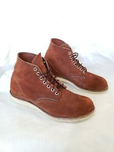 """Red Wing 8813 Classic Round Toe 6"""" Boots Cooper Brown Suede Size 9D Discontinued"""