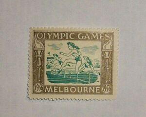 1956 OLYMPIC GAMES MELBOURNE AUSTRALIA ORIGINAL Australia Stamp No1 VERY RARE!!!