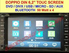 Doppio 2 Din Car DVD Player Lettore CD MP3 Bluetooth TV USB SD Autoradio+Camera