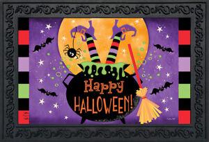 "Witch Feet Halloween Doormat Cauldron Indoor Outdoor 18"" x 30"" Briarwood Lane"