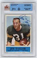 1964 PACKERS Jim Taylor signed card Philadelphia #80 AUTO JSA BVG Slab Autograph