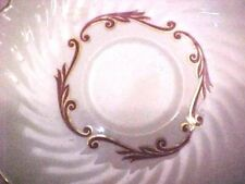 """(8) SYRACUSE china BAROQUE RED/GOLD pattern Saucers - Set of EIGHT (8) @ 5 3/4"""""""
