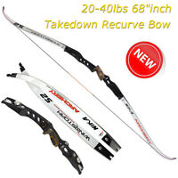 """20-40lbs 68""""inch Takedown Recurve Bow Right Hand ET3 + S2 Limbs Shooting Hunting"""