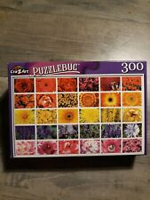 New Puzzlebug Colorful Flower Collage 300 Piece Jigsaw Puzzle
