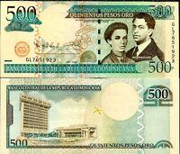 DOMINICAN REPUBLIC 500 PESOS ORO 2009 P 179 UNC