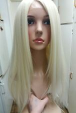 Blonde Human Hair, white, Wig, Blend, Ombré, 613, Long, skin like top