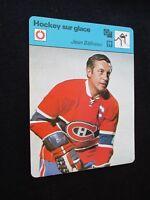 SPORTSCASTER FICHE CHAMPION HOCKEY JEAN BELIVEAU CANADA 1978 CANADIENS MONTREAL