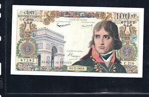 Billet 100 Nouveaux Francs Bonaparte 06/12/62 TTB+ Fay 59-18