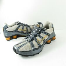 Nike Shox Turbo Mesh Running 347521 141 White Blue Dusk Obsidian Gold Size 10.5