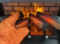 Leather * Insulated * Fireplace * Stove Hearth * Gloves 1 Pair * Free Shipping!
