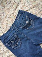 Hydraulic Women's Designer Blue Jeans Size 12P Boot Cut Western Denim Pants
