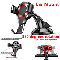 1x For Phone GPS 360° Gravity Car Mount Holder Cradle Advantage Accessory