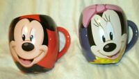 Walt Disney World Theme Park Large Ceramic Mickey & Minnie Mouse Coffee Mug CUPS
