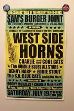 THE WEST SIDE HORNS San Antonio TEXAS (2008) Concert Poster doug sahm tornados