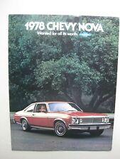 Chevrolet Nova brochure Prospekt English text 12 pages 1978