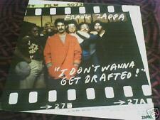 "Zappa don't wanna get drafted 12"" 45 rpm M ZAPPA label"