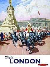 Londres Guards At Buckingham Palace Publicité de Chemin de Fer