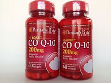 2 Bottles Puritan's Pride Coenzyme Q-10 200mg *Supports Heart Health Made In USA