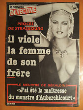 Détective N° 55 -06/10/1983-Procès de Strasbourg, il viole la femme de son frère