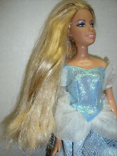 Barbie very long blonde hair, blue eyes, gown & shoes 1980's
