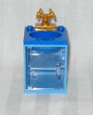 LEGO 2 SHADES OF BLUE BATHROOM SINK WITH CLEAR DOOR THAT OPENS, & GOLD FAUCET