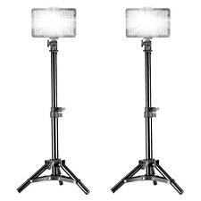 2X Bestlight PT-176S LED Video Light + 2X Mini Light Stand for Canon,Nikon