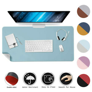 Multifunctional Office Desk Pad Dual-Sided PU Leather Mat Waterproof Mouse Pad