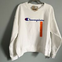 NWT Off White Champion Reverse Weave Script Crew Neck Sweatshirt 2XL