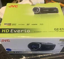 JVC HD Everio GZ-E10 HD Memory SD Card Camcorder Blue Full HD 1080P NOB