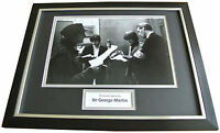 SIR GEORGE MARTIN Signed FRAMED Photo Autograph 16x12 Display The Beatles & COA