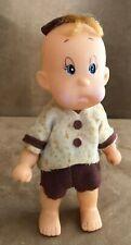1966 Holiday Fair Hedaya Doll vintage boy big eye plastic brown clothes